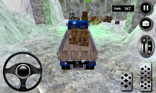 ヒル雪トラックドライブを登ります