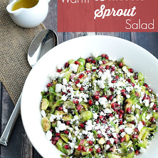Warm Brussels Sprout Salad with Pomegranate and Goat Cheese