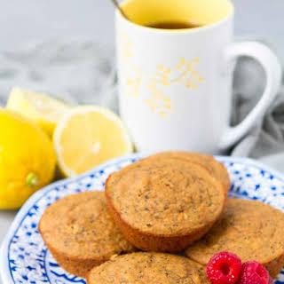 Healthy Lemon Poppy Seed Muffins.