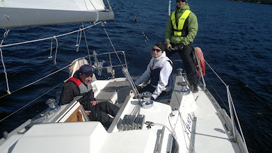 Photo: Johdantoa purjehdukseen, ja heti pinnaan!