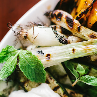 Grilled Vegetables with Mint yogurt