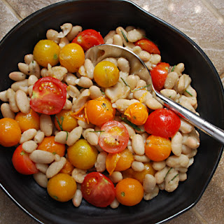 Cannellini with Cherry Tomatoes and Rosemary.