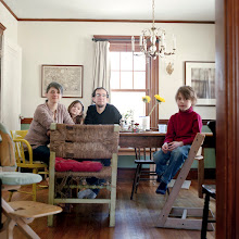 Photo: title: Dan Koch, Liz, Cy & Zoe Vittori-Koch, Jamaica Plain, MA date: 2011 relationship: friends, art, met at Hampshire College years known: Dan, 20-25: Liz, 15-20