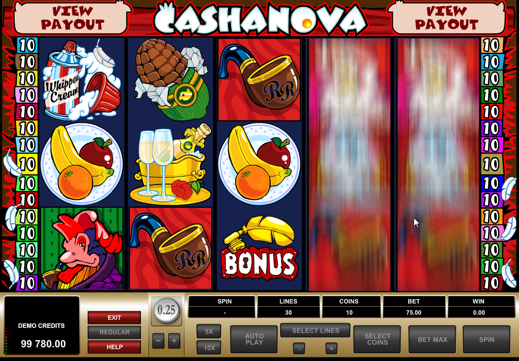 Cashanova Slots Machine Review