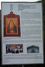 Photo: Day 1: This is a sign with information about the relic of the church, La Dolorosa.