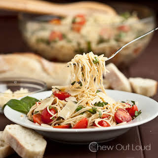 Bruschetta (Tomato Basil) Pasta.