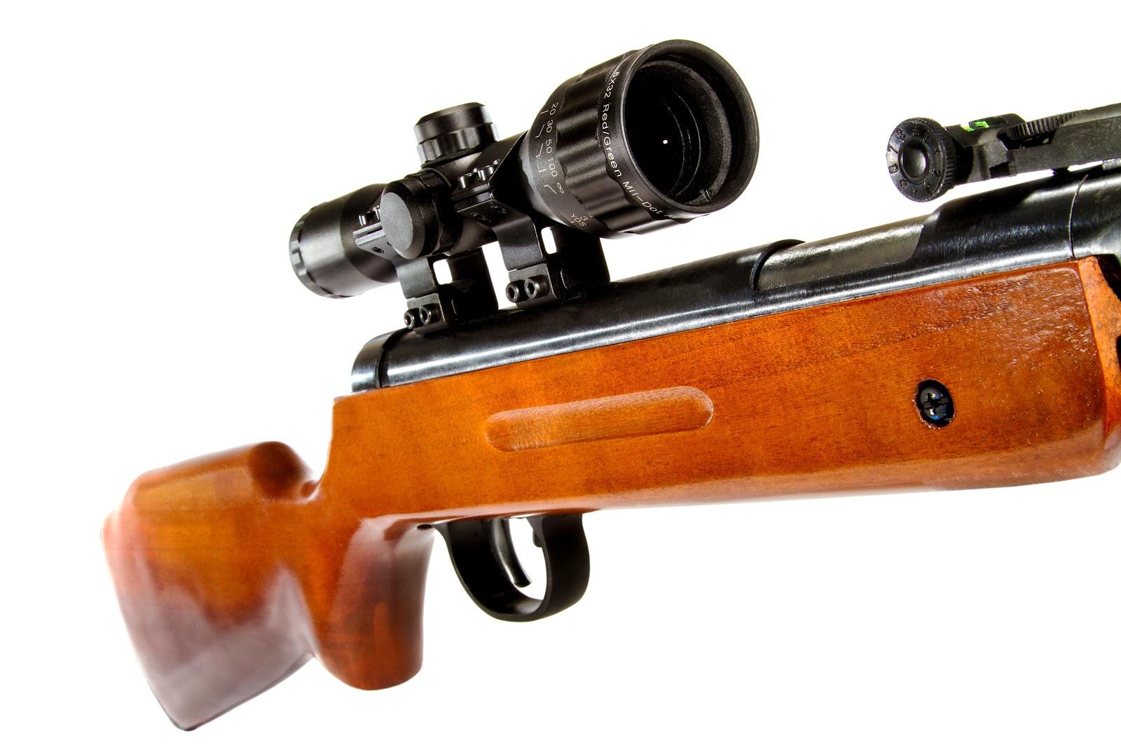 a rifle scope close up image