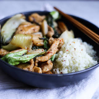 Stir-Fried Chicken and Baby Bok Choy.