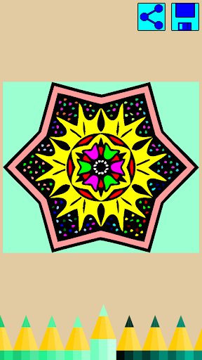Coloring book: Mandala Flowers  screenshots 7