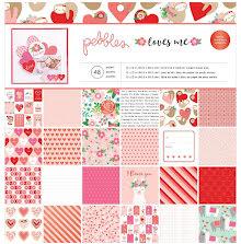 Pebbles Single-Sided Paper Pad 12X12 48/Pkg - Loves Me
