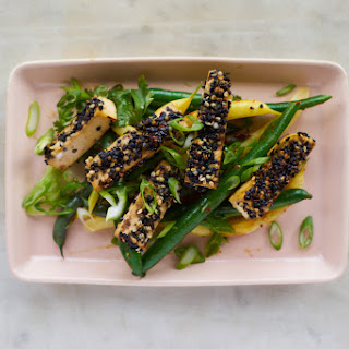 Golden-crusted Sesame Seeded Tofu.