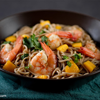 Cold Soba Noodles with Shrimp and Mango