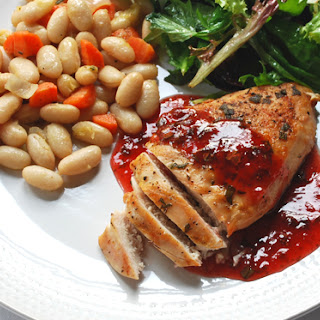 Grilled Chicken with Strawberry Balsamic Vinegar Sauce