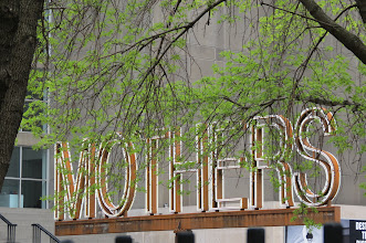 Photo: Mothers Sign outside Contemporary Art Museum
