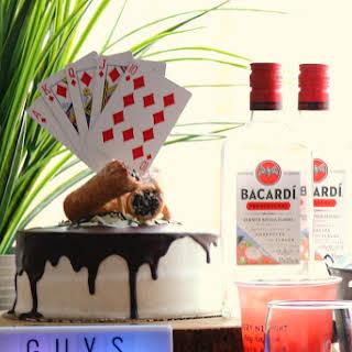 Rum Cannoli Chocolate Ganache Waterfall Cake.