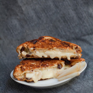 Brie & Pear Grilled Cheese Sandwich