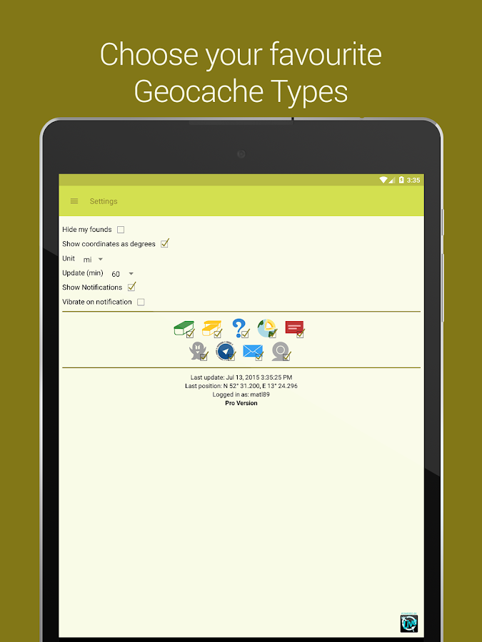 Geocaching App & Widget- screenshot