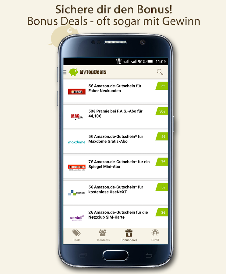 MyTopDeals - Schnäppchen App- screenshot