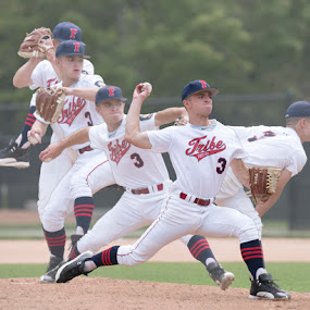 Going Through the Motion by Wesley Spear III - Sports & Fitness Baseball ( ball, rubber, positioin, uniform, mound, pitcher, sport, team, composite, throw, dan spear, baseball, glove, right, pitch,  )