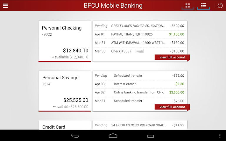 android BFCU Mobile Screenshot 10