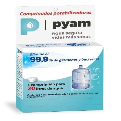 potabilizador de agua pyam 20l blister 10comprimidos okey