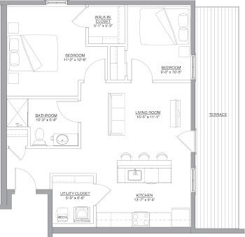 Go to The Douglas Floorplan page.