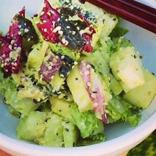 Gastrawnomica's Avocado-Hemp Salad (Protein rich!).