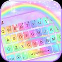 Galaxy Rainbow Keyboard Background icon