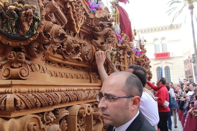 Javier Marín Lao auxiliar de la cuadrilla de costaleros del paso de Prendimiento.