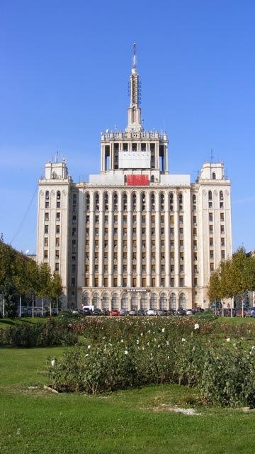 Massive communist building in Bucharest