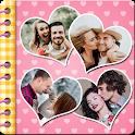 Love Photo Scrapbook Collage: the romantic album icon