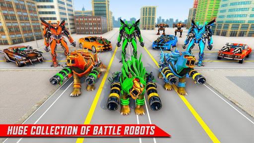 Lion Robot Car Transforming Games: Robot Shooting 1.4 screenshots 13