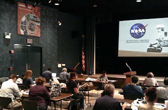 Photo: Waiting for the multi-center broadcast from NASA JPL in Pasadena, California