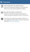 Screenshot of IRS2Go