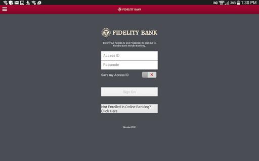 Fidelity Bank Atlanta Tablet
