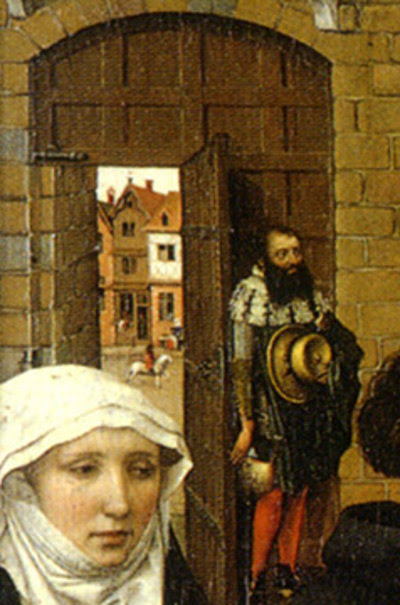 Detail from the Merode Altarpiece by Robert Campin