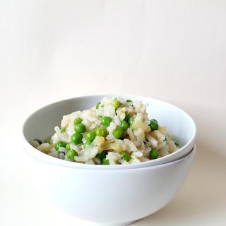 Zucchini and Pea Risotto.