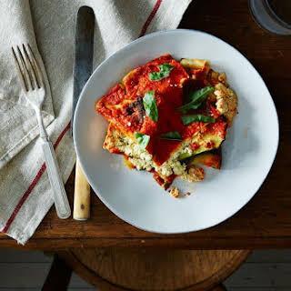 Vegan Lasagna with Roasted Vegetables.