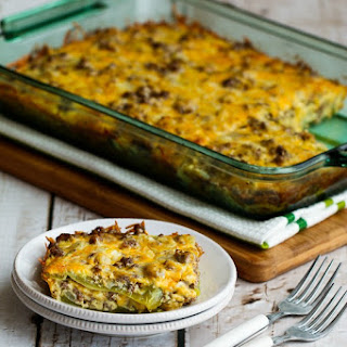 Beefy and Cheesy Low-Carb Green Chile Bake.