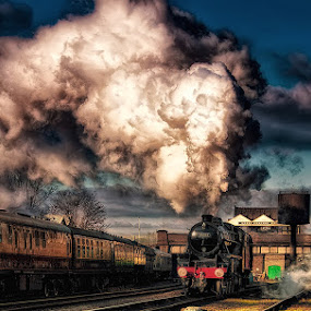 Looking back into the past by Martin Crush - Transportation Trains ( locomotives, crush, steam trains, trains, smoke.crush studio, steam )