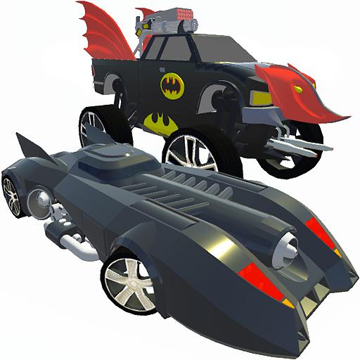Bat Hero Driving A Car (game)
