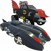 Bat Hero Driving A Car