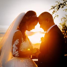 The sunset by Klaudia Klu - Wedding Bride & Groom ( #bride, #love, #sunset, #photography, #groom,  )