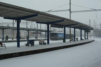 Photo: die 6 gleise von bratislava (eines mit güterzug)