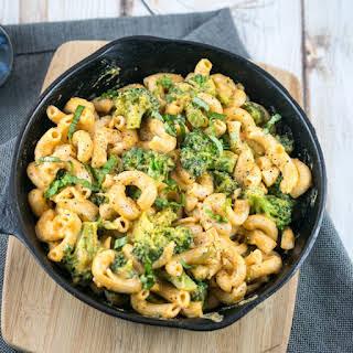 Black Pepper Cheesy Vegan Mac and Broccoli.
