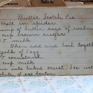 Butterscotch Pie.