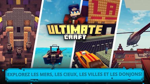 Code Triche Ultimate Craft: Bâtis & Conçoit dans cube worlds  APK MOD (Astuce) screenshots 1