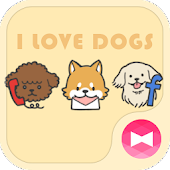 Cute Wallpaper I Love DOGS Theme