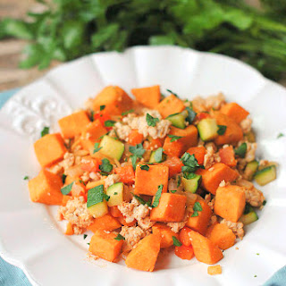 {Healthy} Turkey and Sweet Potato Hash