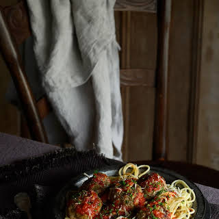 Roman Holiday Spaghetti and Meatballs with Rich Tomato Sauce.